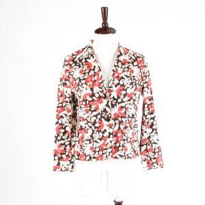 ANN TAYLOR – Floral Cotton Jacket Blazer – Size 6